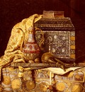 Schodl Max A Still Life With Oriental Objects