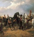 begegnung russischer ulanen und dragoner