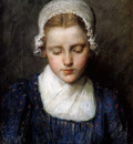 Schwartze Therese Portrait of a girl Sun