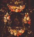 seghers and denys garland of flowers with holy family c1650