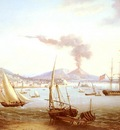 Serres John Thomas An English Frigate In The Bay Of Naples