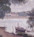 landscape with a boat, seurat 1600x1200 id