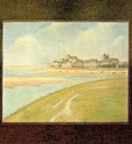 Seurat View of Le Crotoy from Upstream, 1889, The Detroit in
