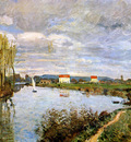 Sisley Alfred The Seine at Argenteuil Sun