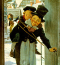 Jessie Wilcox Smith Tiny Tim and Bob Cratchit on Christmas Day, 1925 sqs