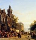 Springer Cornelis City view with figures Sun