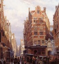 Springer Cornelis The Jewish quarter in Amsterdam Sun