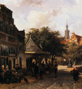 Springer Cornelis View of Oudewater Sun