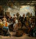 STEEN,J  THE DANCING COUPLE, 1663, NGW