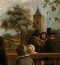 STEEN,J  THE DANCING COUPLE, DETALJ 12, 1663, NGW