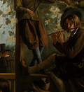 STEEN,J  THE DANCING COUPLE, DETALJ 14, 1663, NGW