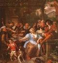 Steen Merry Company on a Terrace, oil on canvas, Metropolita