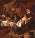 Steen The Dissolute Household, oil on canvas, Metropolitan M