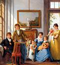 Strij van Abraham Hendrik Weymans and his family detail Sun