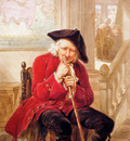 Strij van Abraham Sitting old man waiting in hall Sun