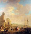 Strij van Jacob Landscape with coast and ruin Sun