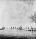 Strij van Jacob View on flooded Over and Nederwaard Sun