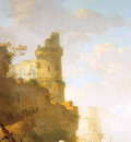 Strij van Jacob Italian landscape with ruin