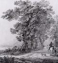 Strij van Jacob Landscape with forest Sun