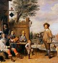 Teniers David Landscape with a family Sun