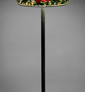 tiffany elaborate peony shade with standing lamp 1904
