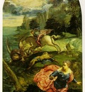 tintoretto st george and the dragon, ca 1555 58, 157 5 x