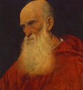 TIZIANO PORTRAIT OF AN OLD MAN PIETRO CARDINAL BEMBO , BUDA