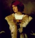 Tiziano Portrait of a man in a red cap, ca 1516, 82 3x71 1 c