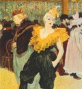 lautrec the clownesse cha u kao at the moulin rouge