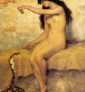 Trouillebert Paul de Sire The Nude Snake Charmer