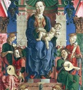 Lippi Filippino The virgin and child enthroned