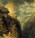 Turner Joseph Mallord William The Battle of Fort Rock Val d Aoste Piedmont