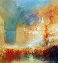 Turner Joseph The fire in the house of Parliament Sun