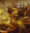 William Turner The Battle of Trafalgar, as Seen from the Mizen Starboard Shrouds of the Victory