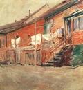 twachtman gloucester, fishermens houses c1901