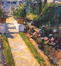 twachtman in the garden c1895