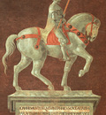 UCCELLO FUNERARY MONUMENT FOR GIOVANNI ACUTO,1436, DUOMO,FIR