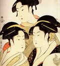 utamaro three famous beauties 1792