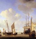 Velde van de Willem Jr Ships in the roads Sun