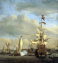 Velde van de jr Willem View on the IJ Amsterdam Sun