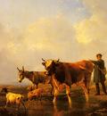 Verboeckhoven Eugene Joseph Crossing The Marsh