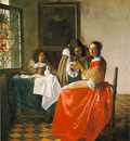 Vermeer The girl with wineglass, 1659 60, 78x67 cm, Herzog A