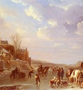 Vermeulen Andries A Winter Scene In Holland