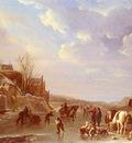 Vermeulen Andries A Winter Scene In Holland
