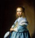 Verspronck Jan Cornelisz Girl in blue Sun