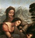 Leonardo da Vinci The Virgin and Child with St Anne detail1