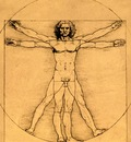 proportions of the human figure, leonardo da vinci, 1485