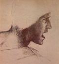 Sketches for The Battle of Anghiari Head of a Warrior