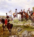 walker james alexander napoleon watching the battle of friedland