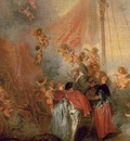 Watteau Pilgrimage to Cythera, Detalj, 129x194 cm, Charlotte